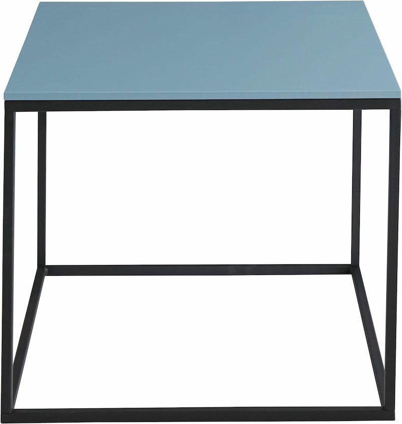 Cava Sofabord - Blå 50x50cm - Sofabord med blå topplade