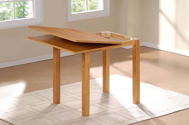 Columba Spisebord Hvid MDF, Gummitræ - 80x80   - Gummitræs spisebord