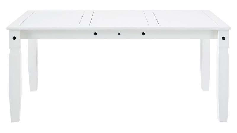 Corona Spisebord hvidpigmenteret fyrretræ     - Spisebord i hvid
