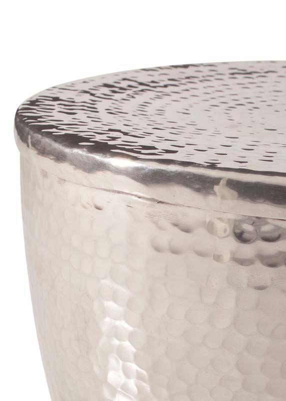 Gerald Sidebord Aluminium - håndlavet     - Håndlavet sidebord i aluminium