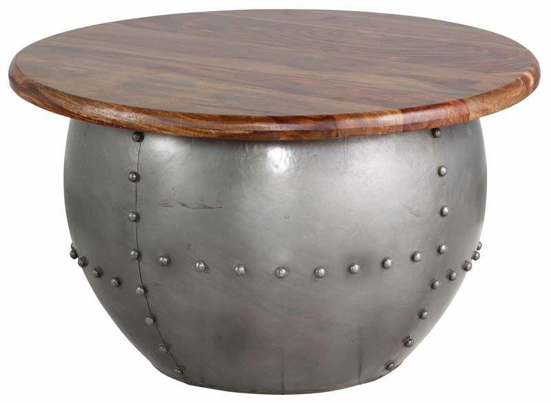 India Sofabord Metal og mangotræ - Metal sofabord