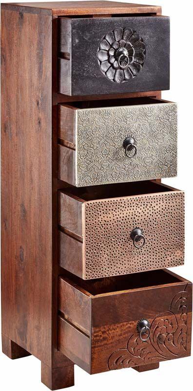 kommode i tr affordable kommode in matt wei mit abgesetzten beinen in eiche massiv schubksten. Black Bedroom Furniture Sets. Home Design Ideas