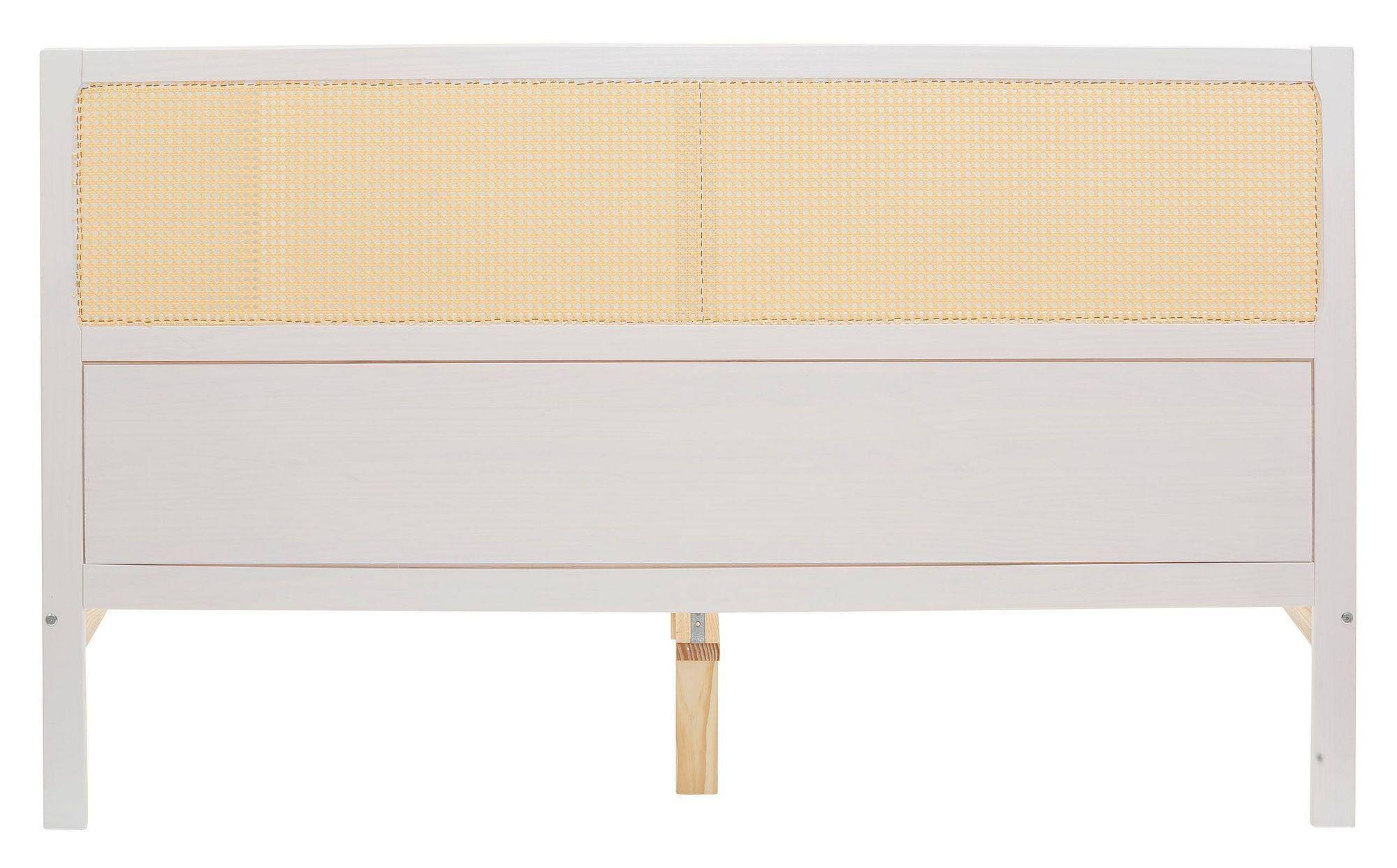 Oxford Sengeramme - Hvid/Rattan, 200x180