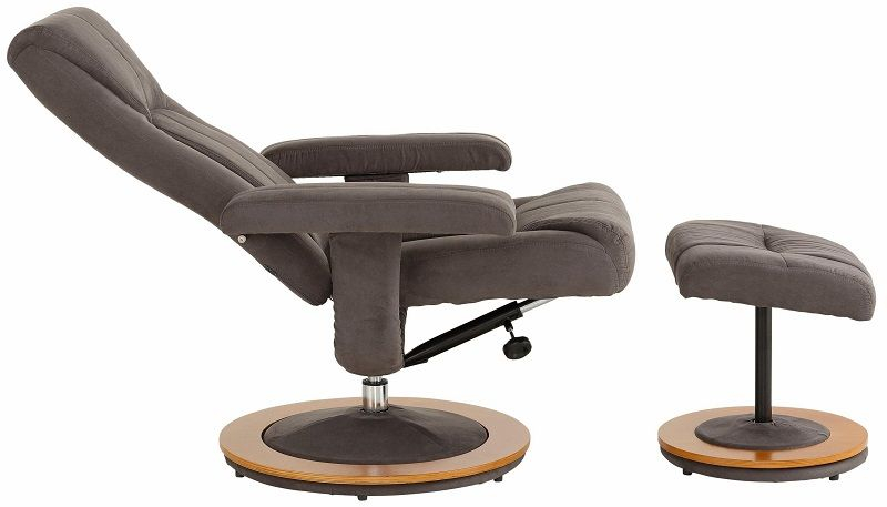 Palma Recliner - Brun Microfiber - Brun lænestol med fodskammel