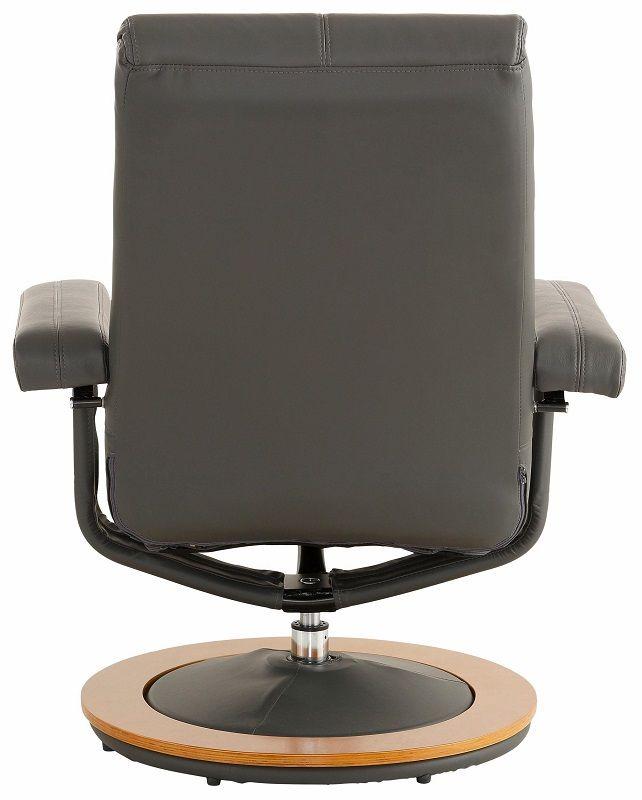 Palma Recliner med Grå PU - Lænestol i grå kunstlæder