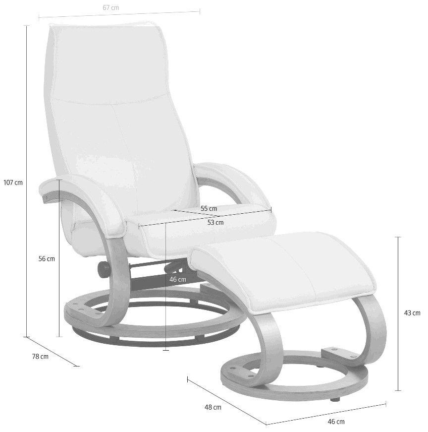 Paprika Hvilestol med skammel Grå microfiber - Grå hvilestol med skammel