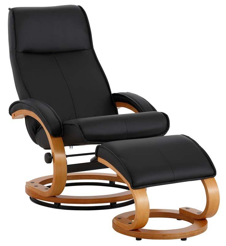 Paprika Hvilestol med skammel Grå PU - Hvilestol med gråt kunstlæder