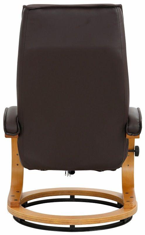 Paprika Hvilestol med skammel Mørkebrunt Læder - Hvilestol med mørkebrunt læder