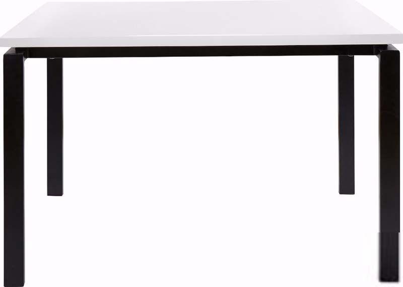 Sandra Spisebord Hvid Højglans 120x90 - Hvid spisebord med sort stel