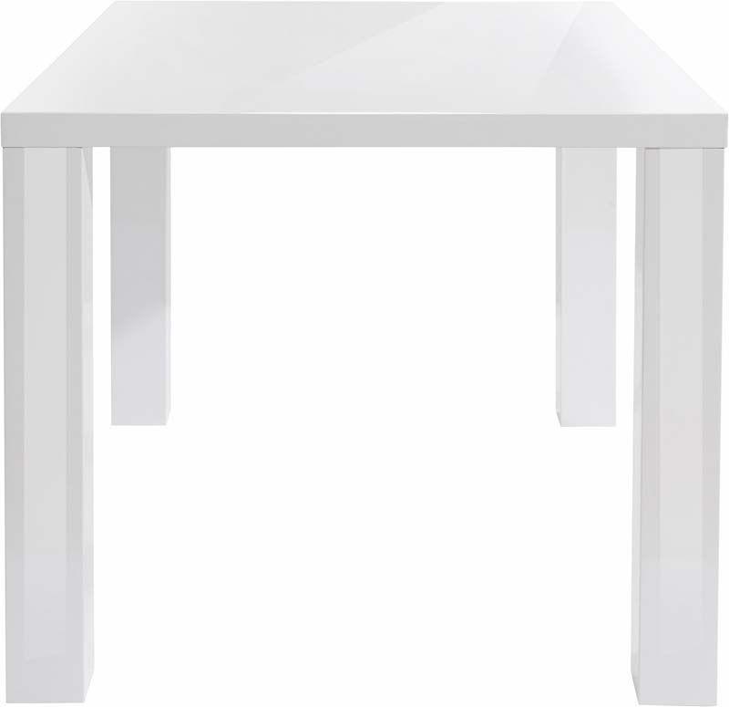 Shane Spisebord Hvid Highgloss - 120x90 - Hvidt spisebord
