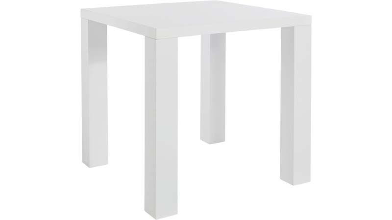 Shane Spisebord Hvid Highgloss - 80x80 - Lille spisebord i hvid