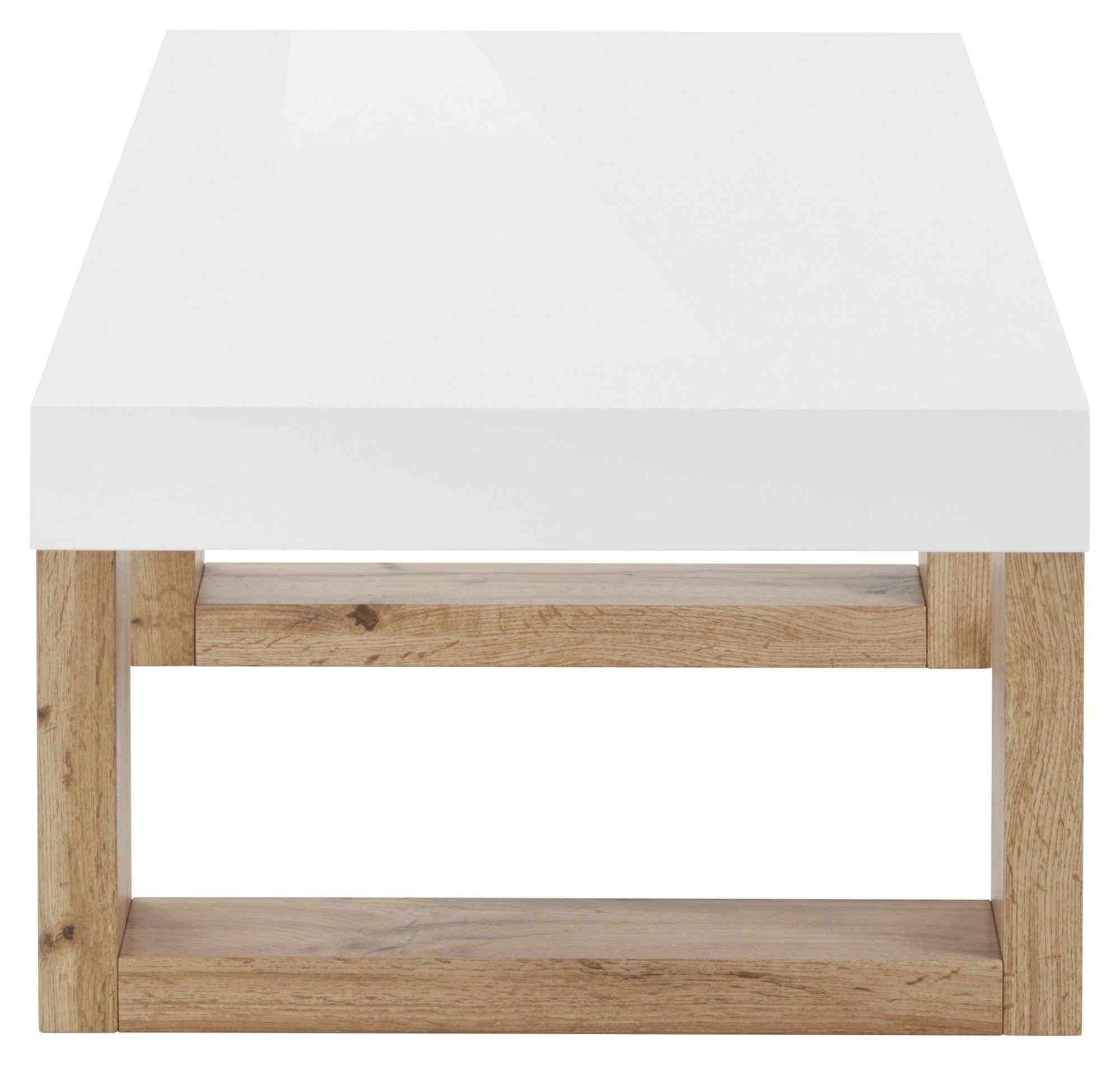 Sumo Sofabord - Hvid Højglans/Natur