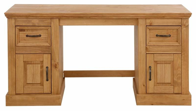 Suzie Skrivebord - bejdset fyrretræ - Skrivebord med skuffer