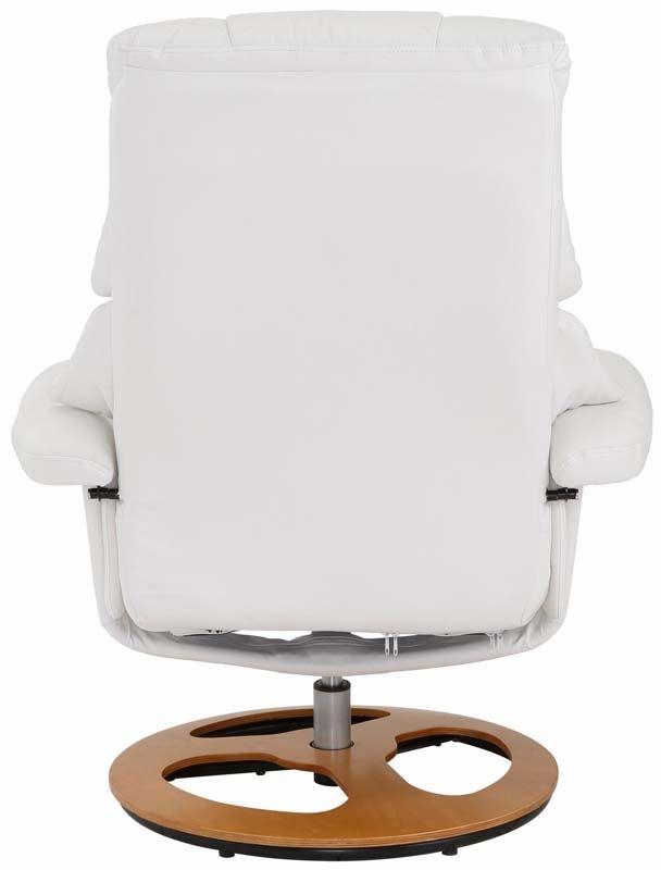 Tony Hvilestol med skammel Hvid PU - Hvid hvilestol med skammel