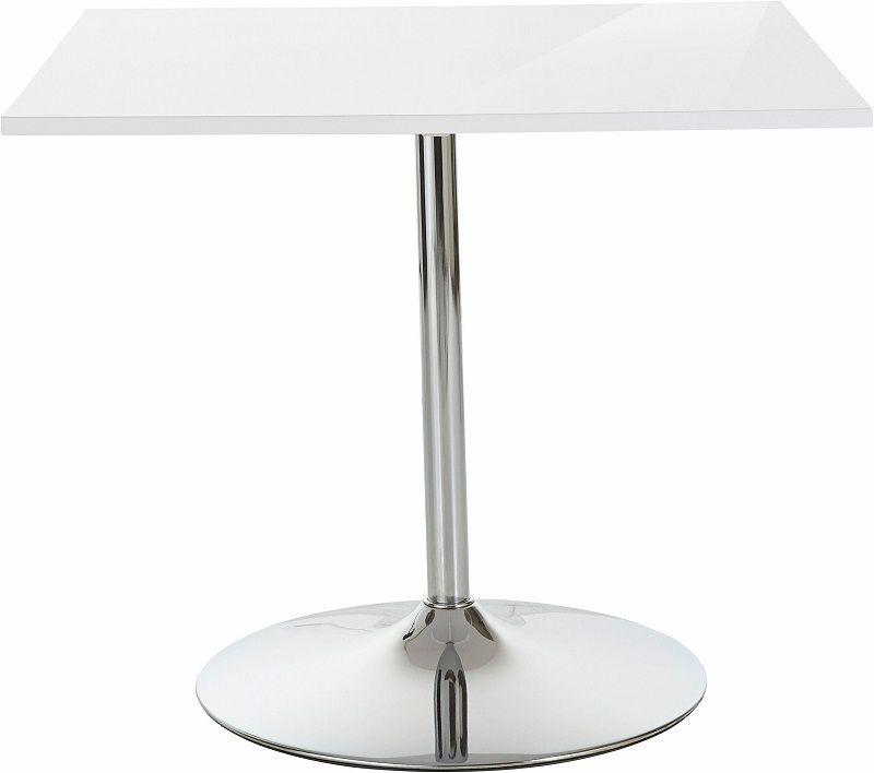 Trent Spisebord 90x90 - Hvid - Hvidt spisebord med rund fod