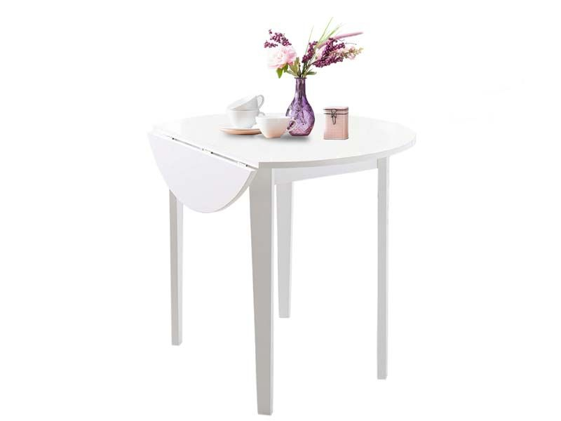 Truman Spisebord Hvid med klap - Ø91 - Gratis fragt