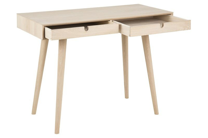 Lustra Skrivebord m/2 skuffer - Finer - Skrivebord med skuffer