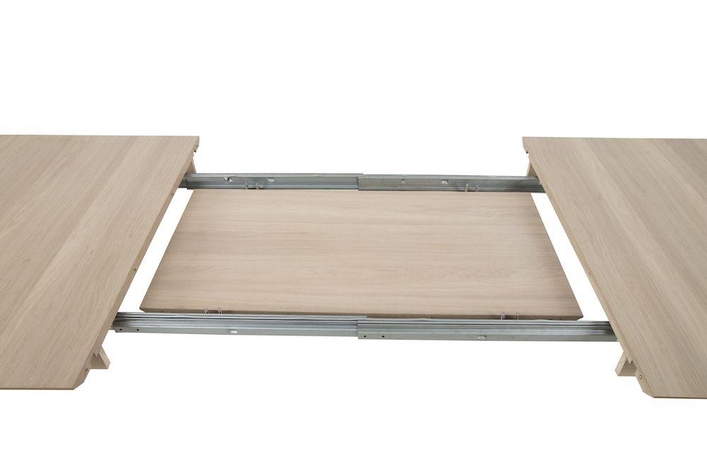Lustra Spisebord - Lys ege finér - 200x100 - Spisebord i lys træ