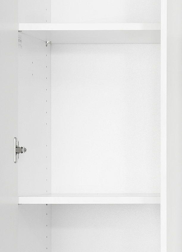Magnum klædeskab m. 3 låger - Låger i hvid højglans