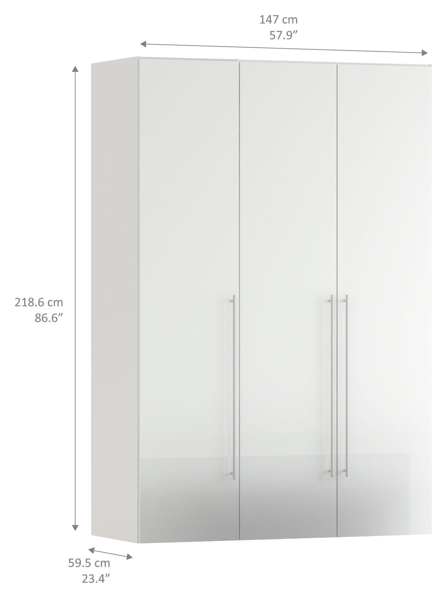 Magnum Garderobeskab - Hvid højglans - Låger i hvid højglans