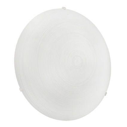 Malva loftlampe - Rund lampe med hvid glasskærm - Ø:31,5