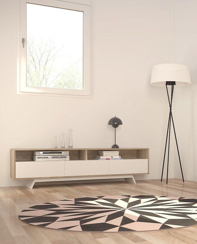 Match TV-bord - Lys træ - TV bord i lyst træ