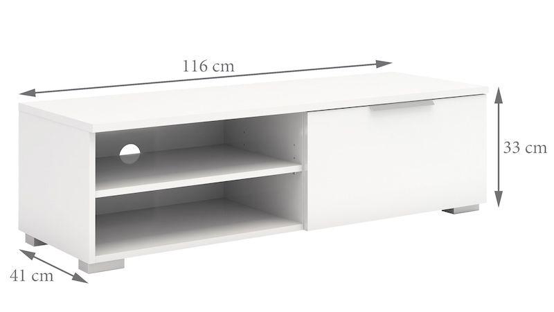 Match TV-bord - Hvid højglans - Hvidt TV-bord