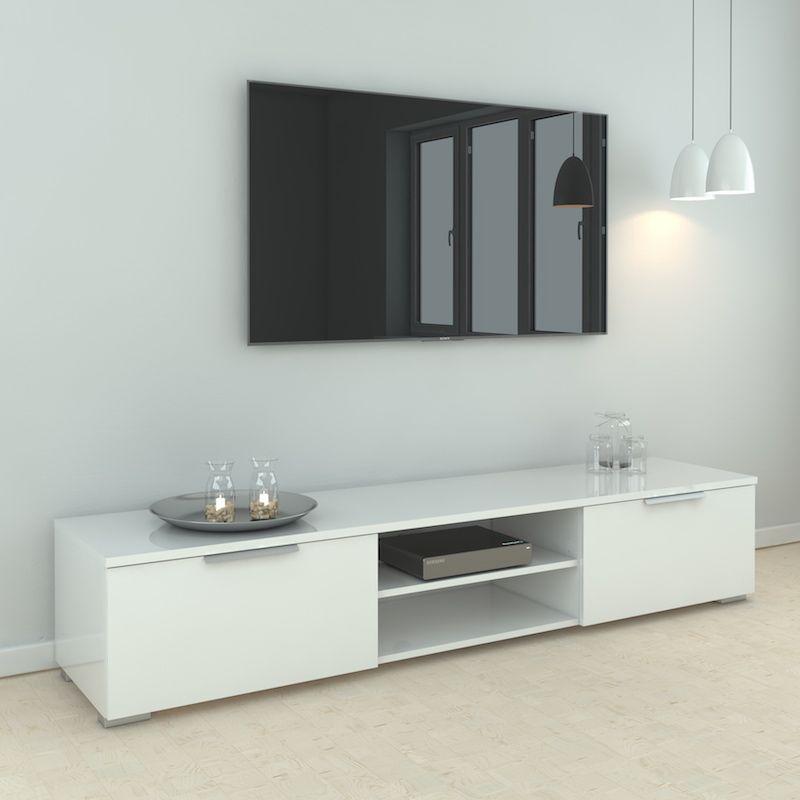 Match Tvbord - Hvid højglans B:172 - TV-Bord i hvid højglans