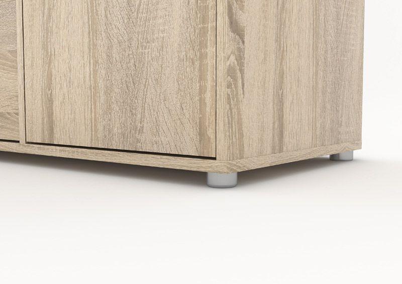 Match TV-bord - TV-bord i lyst træ med huller til ledningsudtræk