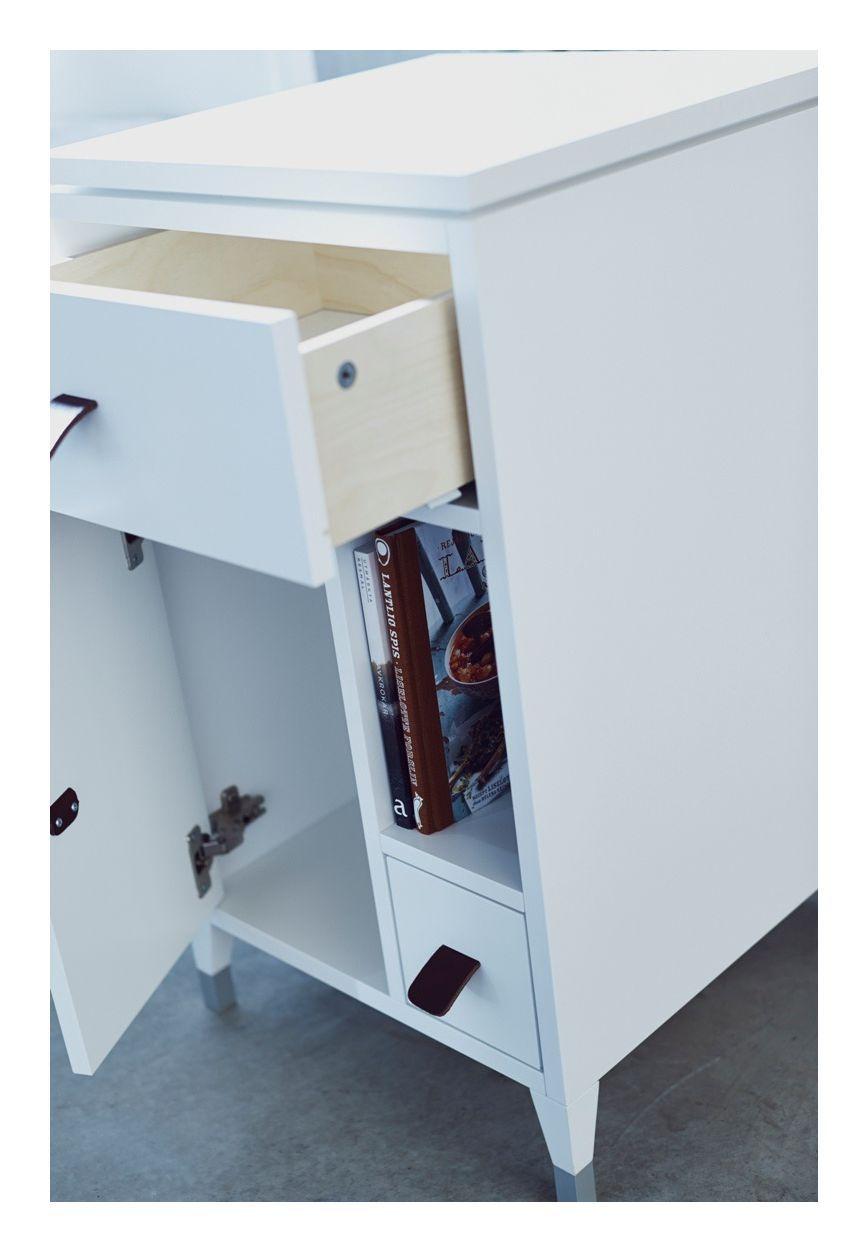 Mavis - Abisko Sengebord m/3 skuffer - Hvid - Sengebord i lakeret hvid