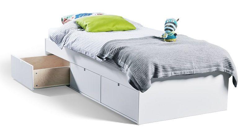 Mavis Børneseng - 90 x 200 cm - Hvid børneseng med opbevaring