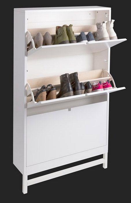 Mavis - Falsterbo Skoskab - Hvid - Skoskab til 18 par sko