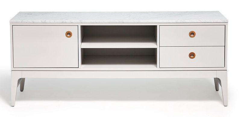 Mavis Höllviken TV-bord - Lys grå - Lysegrå TV-bord
