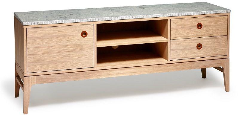 Mavis - Höllviken Kalkstens top -Grå - Limestonetop til TV-bord