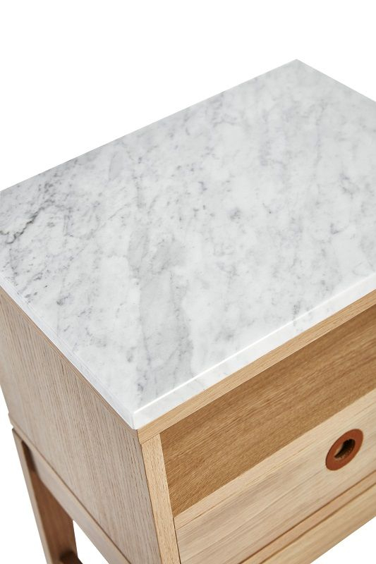 Mavis Höllviken Sengebord - Hvidpigmenteret - Hvidpigmenteret sidebord