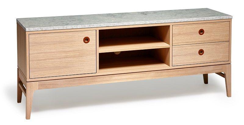 Mavis Höllviken TVbord - Hvidpigmenteret - Hvidpigmenteret TV-bord