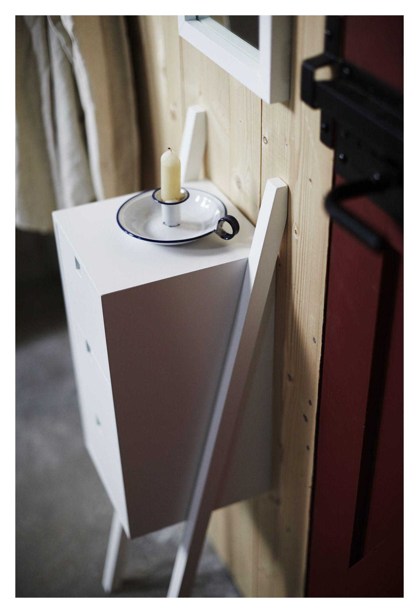 Mavis - Luton Sengebord - Hvid - Sengebord fra Mavis i hvid med 3 bokse