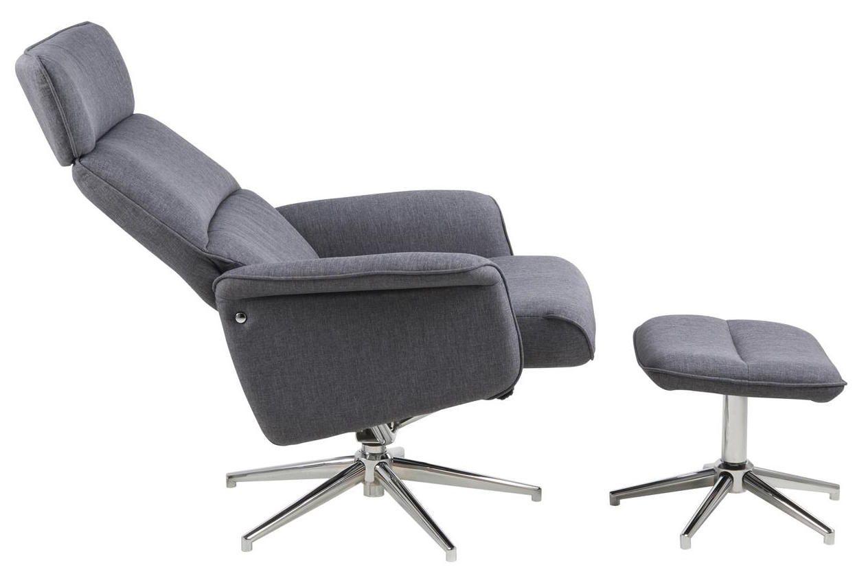 Merle Hvilestol og fodskammel - Hvilestol med fodskammel
