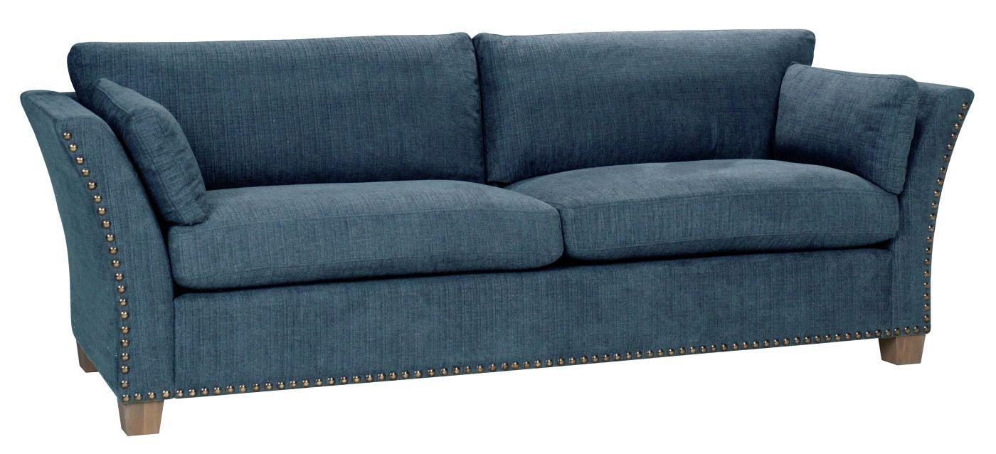 Milton 3-pers. Sofa - petrol m. nitter