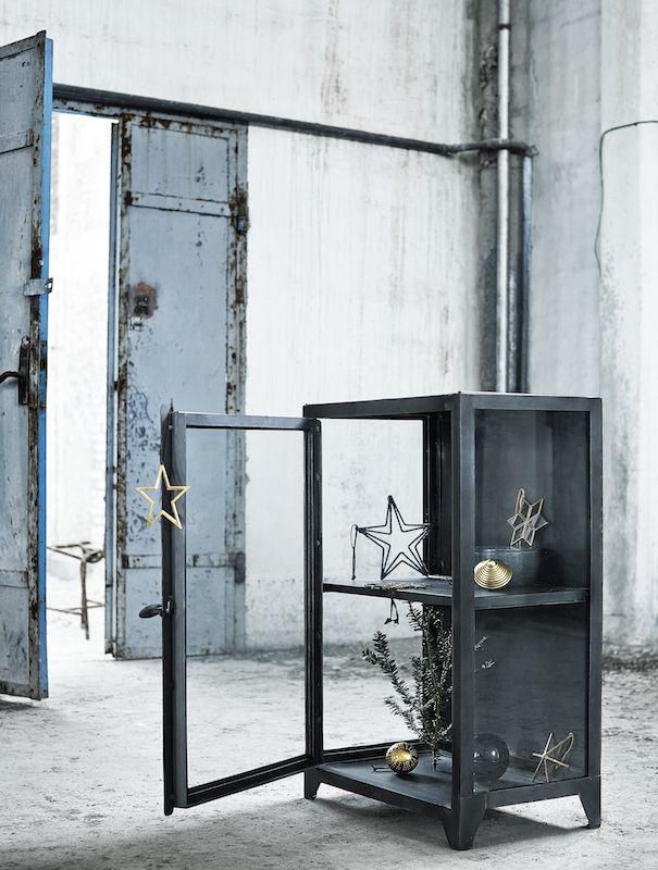 Muubs - Glasskab 16 m/1 låge - Jern - Sort glasskab i jern