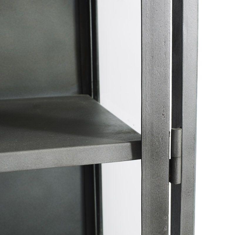 Muubs Iron Glasskab - Sort - Sort jernskab med glaslåger