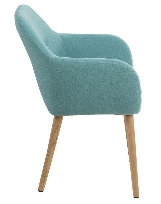 Mynte Spisebordsstol - Blå - Blå stol med armlæn