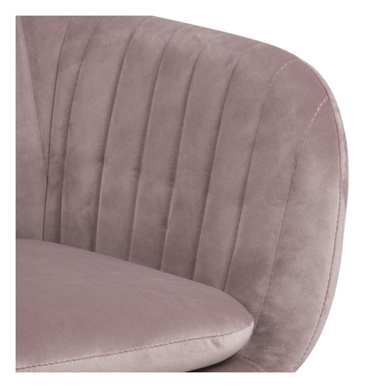 Mynte Spisebordsstol m/armlæn - Støvet rosa