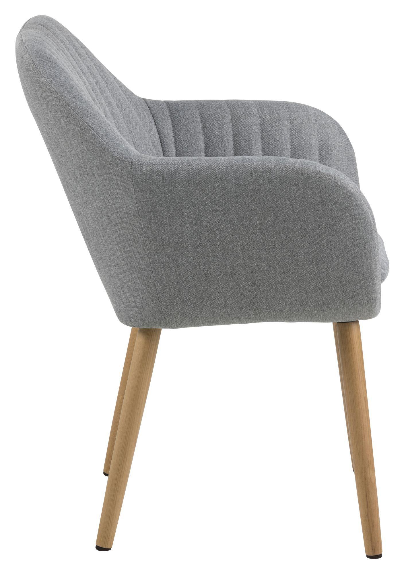 Mynte Spisebordsstol m/lodret syning - Lysegrå
