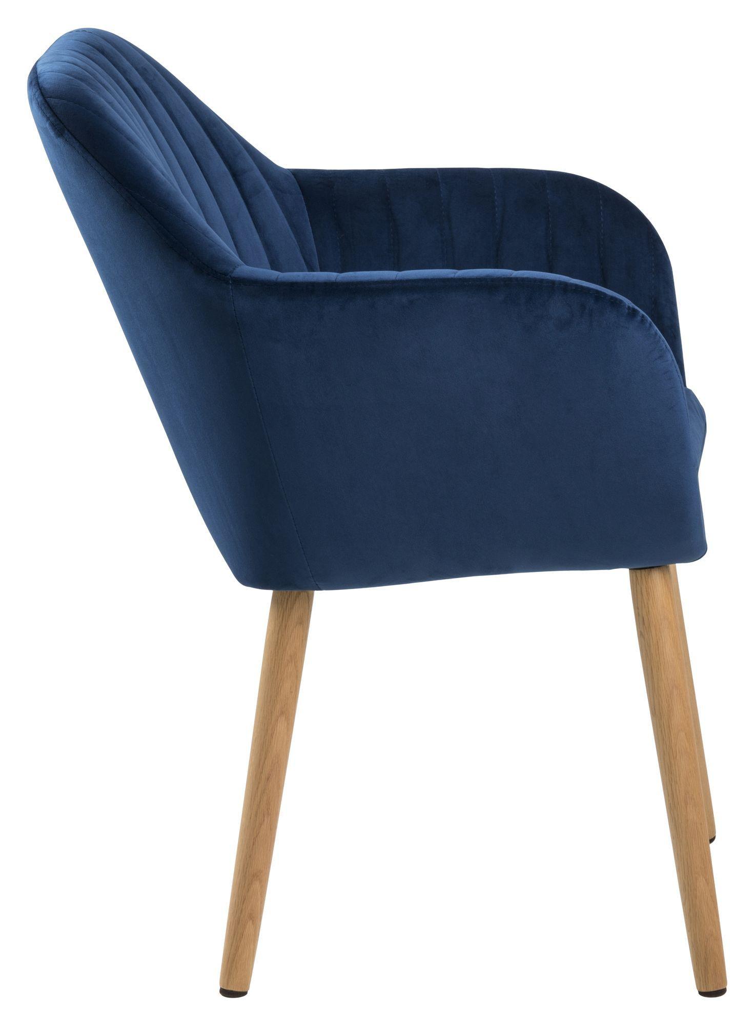 Mynte Spisebordsstol m/lodret syning - Mørkeblå