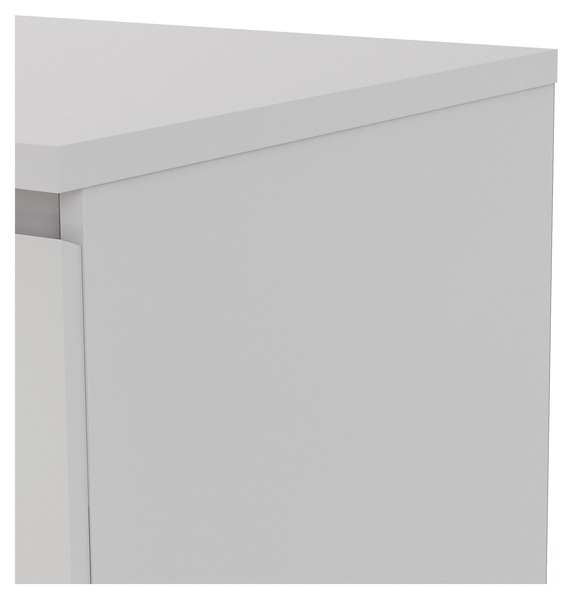 Naia Kommode - Hvid højglans m/3 skuffer - Kommode med 3 skuffer