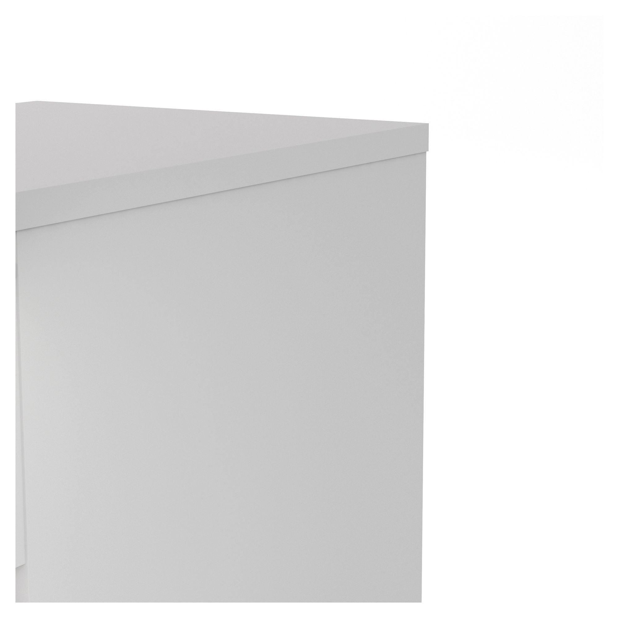 Naia Kommode - Hvid højglans m/5 skuffer B:40 - Smal kommode med 5 skuffer