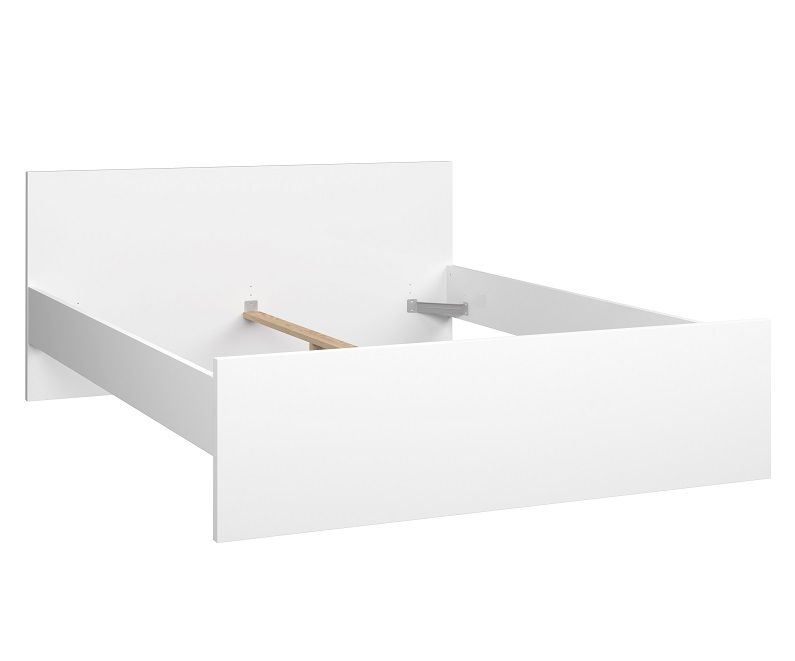 Naia Seng - Hvid højglans - 160x200cm - Seng i hvid højglans