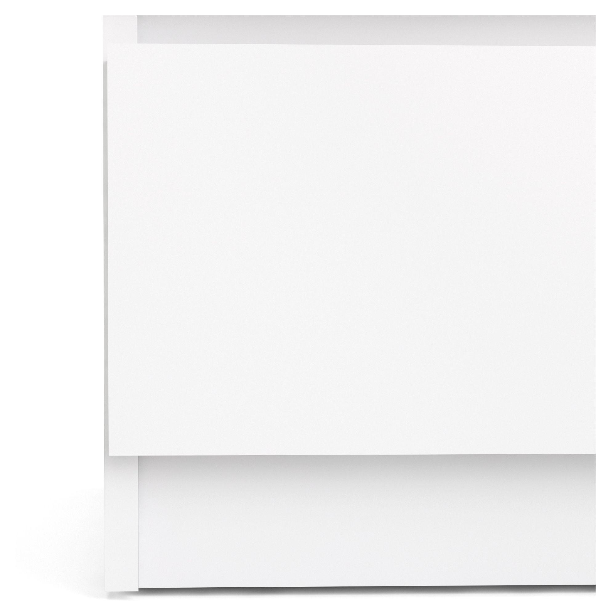 Naia Sengebord - Hvid højglans - Sengebord i hvid højglans