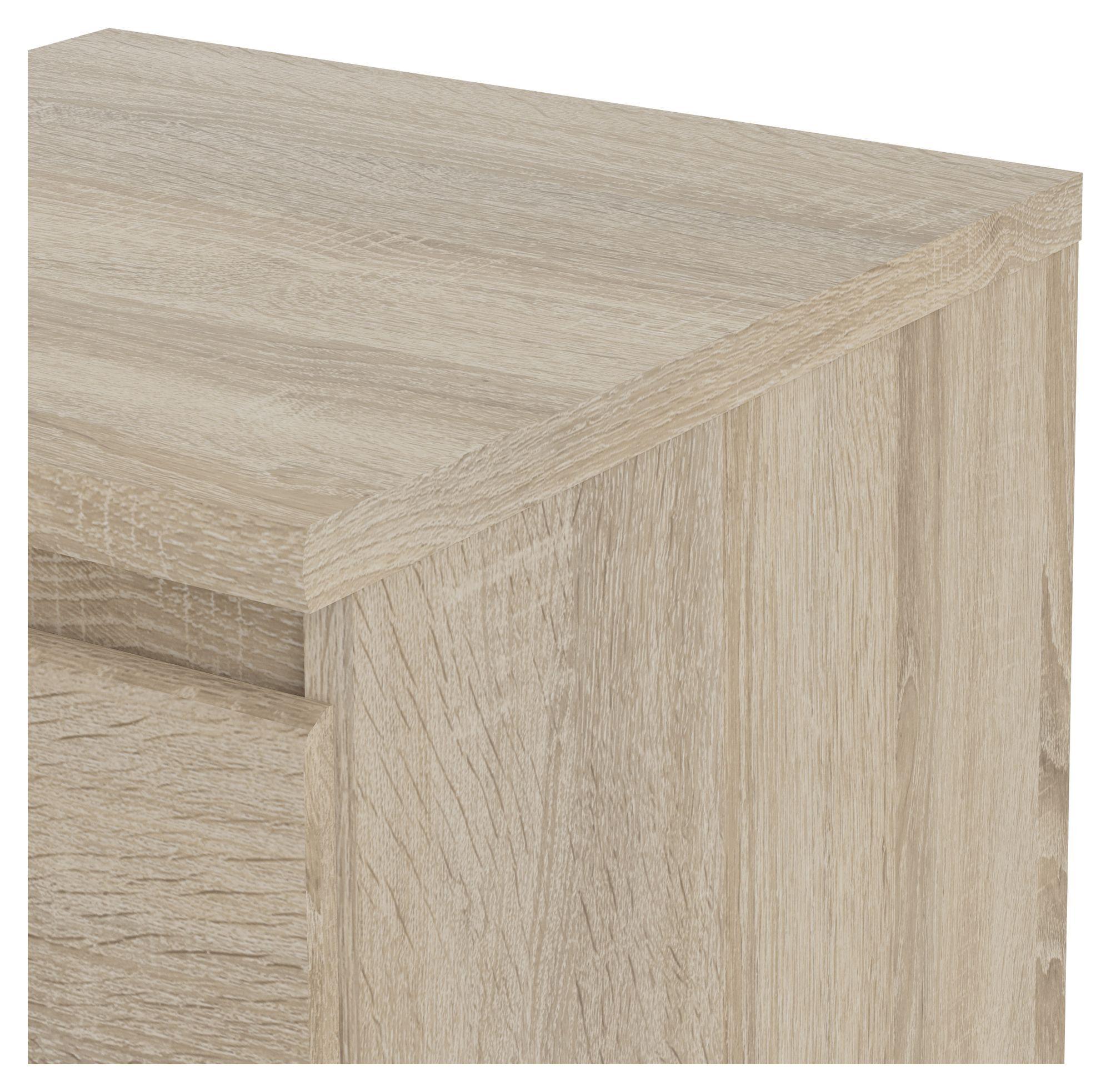 Naia Sengebord - Lys træ m/hylde - Sengebord i egetræs-look
